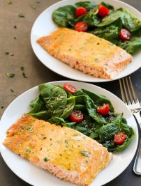 Healthy Baked Honey Mustard Salmon