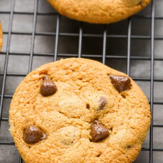 Peanut Butter Chocolate Chip Cookies (No Flour)