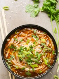 Asian Spicy Noodle Soup (Vegetarian & Vegan)