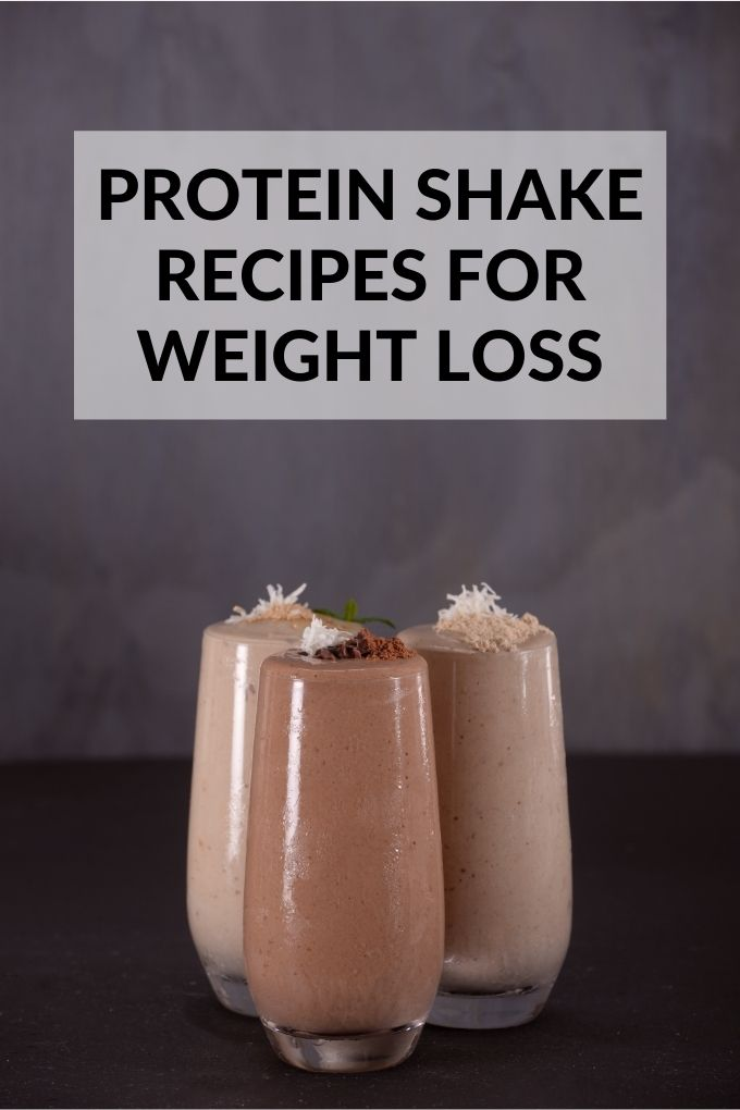 Protein Shakes for Weight Loss with Title Text Overlay